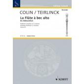 COLIN / TIERLINCK LA FLUTE A BEC ALTO VOL 2