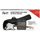 PACK SQUIER AFFINITY SERIES STRATOCASTER SSS BLACK