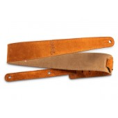 "SANGLE TAYLOR 2.5"" EMBROIDERED SUEDE GUITAR STRAP HONEY GOLD"
