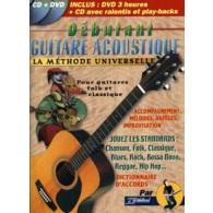 DEBUTANT GUITARE ACOUSTIQUE AVEC CD + DVD