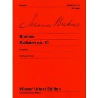 BRAHMS J. BALLADES OP 10 PIANO
