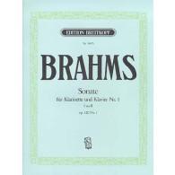 BRAHMS J. SONATE OPUS 120 N°1 CLARINETTE