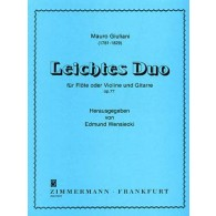 GIULIANI M. LEITCHE DUO OP 77 FLUTE (OU VIOLON) ET GUITARE