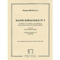 DE FALLA M. DANSE ESPAGNOLE N°1 PIANO