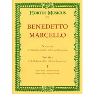 MARCELLO B. SONATES OP 2 N°1-2 FLUTE ALTO B.C.