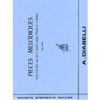 DIABELLI A. PIECES MELODIQUES OP 149 PIANO 4 MAINS
