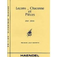 HAENDEL G.F. LECONS, CHACONNES ET PIECES PIANO