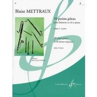 METTRAUX B. 30 PETITES PIECES VOL 2 CLARINETTE