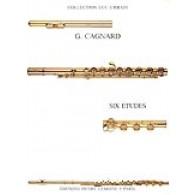 CAGNARD G. 6 ETUDES FLUTE