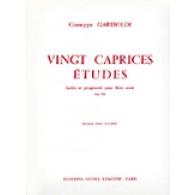GARIBOLDI G. 20 CAPRICES ETUDES OP 333 FLUTE
