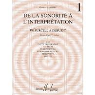 LAMBERT G. DE LA SONORITE A L'INTERPRETATION VOL 1 FLUTE