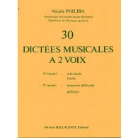 PHILIBA N. 30 DICTEES MUSICALES A 2 VOIX VOL 2