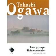 OGAWA T. 3 PAYSAGES 8 PROMENADES GUITARE