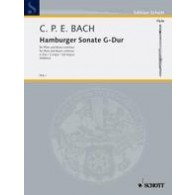 BACH C.P.E. HAMBURGER SONATE FLUTE