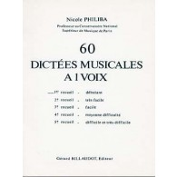 PHILIBA N. 60 DICTEES MUSICALES A 1 VOIX VOL 1