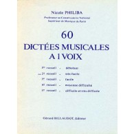 PHILIBA N. 60 DICTEES MUSICALES A 1 VOIX VOL 2
