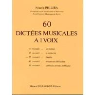 PHILIBA N. 60 DICTEES MUSICALES A 1 VOIX VOL 3