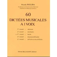 PHILIBA N. 60 DICTEES MUSICALES A 1 VOIX VOL 3