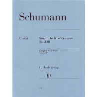 SCHUMANN R. OEUVRES COMPLETES VOL 3 PIANO