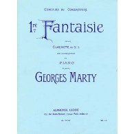 MARTY G. 1RE FANTAISIE CLARINETTE