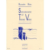 HAHN R. SARABANDE ET THEME VARIE CLARINETTE