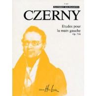CZERNY K. ETUDES POUR LA MAIN GAUCHE OP 718 PIANO
