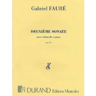 FAURE G. SONATE N°2  OP 117 VIOLONCELLE PIANO