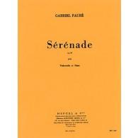FAURE G. SERENADE OP 98 VIOLONCELLE PIANO
