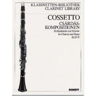 COSSETTO E. CSARDAS COMPOSITIONS CLARINETTE PIANO