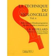 FEUILLARD L.R. TECHNIQUE DU VIOLONCELLE VOL 6