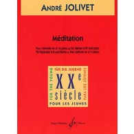 JOLIVET A. MEDITATION CLARINETTE SIB