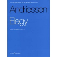 ANDRIESSEN L. ELEGY VIOLONCELLE OU CONTREBASSE