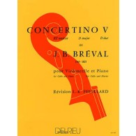 BREVAL J.B. CONCERTINO N°5 VIOLONCELLE