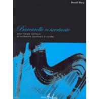 WERY B. BARCAROLLE CONCERTANTE HARPE ET QUATUOR