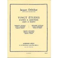 DELECLUSE J. ETUDES (20) D'APRES KREUTZER XYLOPHONE