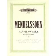 MENDELSSOHN F. OEUVRES COMPLETES VOL 5 PIANO
