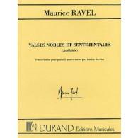 RAVEL M. VALSES NOBLES ET SENTIMENTALES PIANO 4 MAINS