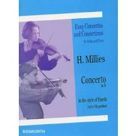 MILLIES H. CONCERTO RE MAJEUR VIOLON