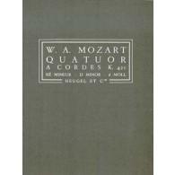MOZART W.A. QUATUOR A CORDES K 421 PARTITION DE POCHE