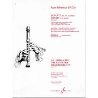 BACH J.S. SONATE BWV 1035 FLUTE A BEC ALTO