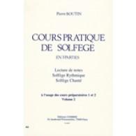 BOUTIN P. COURS PRATIQUE DE SOLFEGE VOL 2