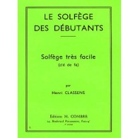 CLASSENS H. LE SOLFEGE DES DEBUTANTS CLE DE FA