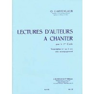 GARTENLAUB O. LECTURES D'AUTEURS A CHANTER OU A JOUER 1ER CYCLE