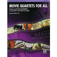 MOVIE QUARTETS FOR ALL TROMBONES OU BASSONS OU EUPHONIUMS OU TUBAS