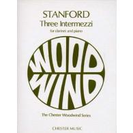 STANFORD C.V. THREE INTERMEZZI CLARINETTE