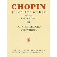 CHOPIN F. CONCERT ALLEGRO VARIATIONS PIANO
