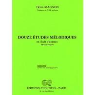 MAGNON D. 12 ETUDES MELODIQUES NIV. MOYEN ELEVE