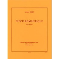 IBERT J. PIECE ROMANTIQUE PIANO