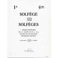 SOLFEGE DES SOLFEGES VOL 1A AVEC PIANO