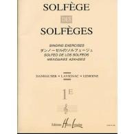 SOLFEGE DES SOLFEGES VOL 1E